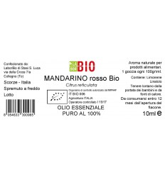 Olio essenziale puro Mandarino etichetta