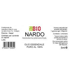 Olio essenziale puro Nardo etichetta
