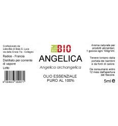 Olio essenziale puro Angelica etichetta
