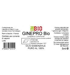 Olio essenziale puro Ginepro etichetta