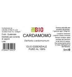 Olio essenziale puro Cardamomo etichetta