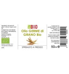 Olio Germe di grano etichetta