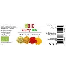 Curry barattolo vetro etichetta