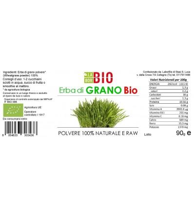 Erba di grano polvere Bio