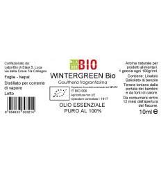Olio essenziale puro Wintergreen Bio 10ml