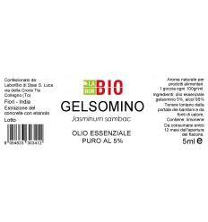 Olio essenziale puro Gelsomino 5% 5ml etichetta